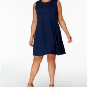 Style & Co. Solid Shift Swing Dress Size